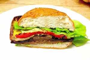 Inside Grilled Veggie Sandwich