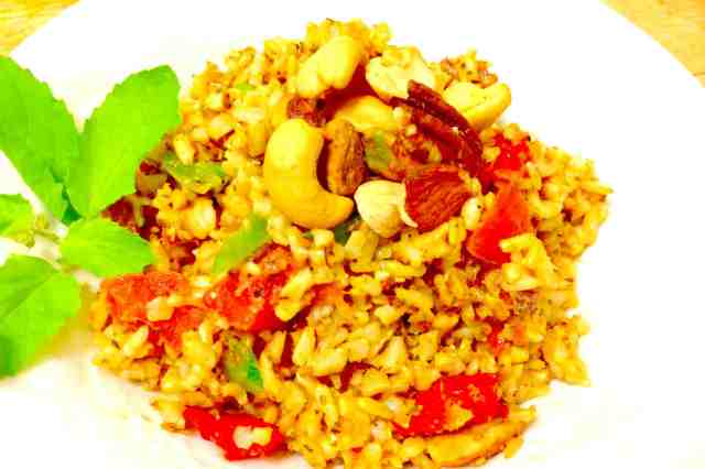 Italian Brown Rice with Nuts