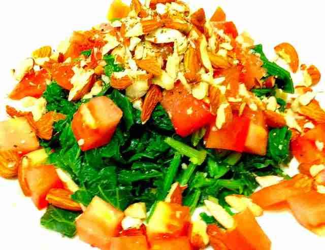 Luffa and Garlic Salad