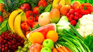 Organic Raw Fruits and Veggies