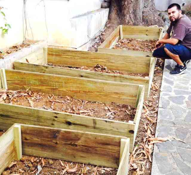Basic Raised Beds in Progress