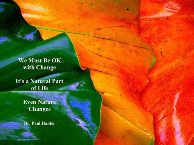 Be OK With Change  copy