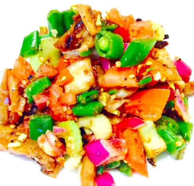 Grilled Eggplant Salad - A Vegan Recipe