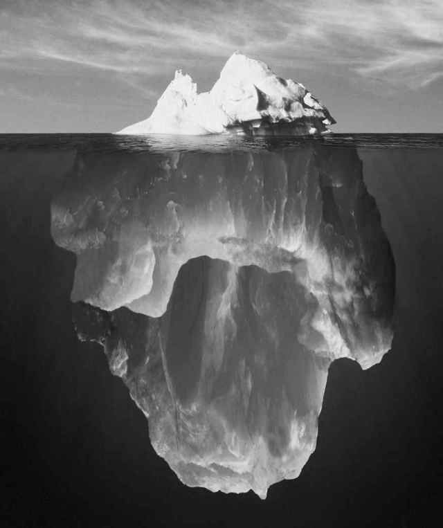90% Unconscious Mind Is like an Iceberg -- Most of it is hidden