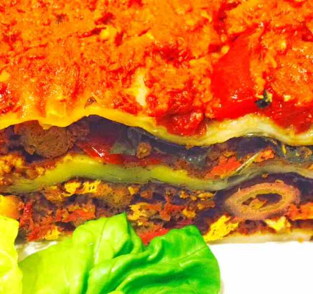 Sundried Tomato Tort with Sweet Potato Leaves