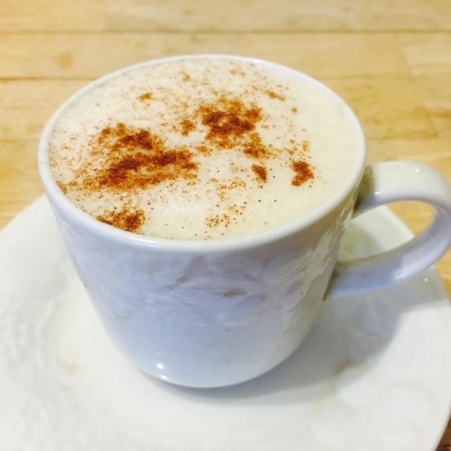 Chai Tea Latte with Added Cinnamon on Top