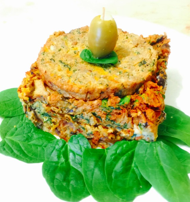 Grilled Eggplant and Spinach Casserole