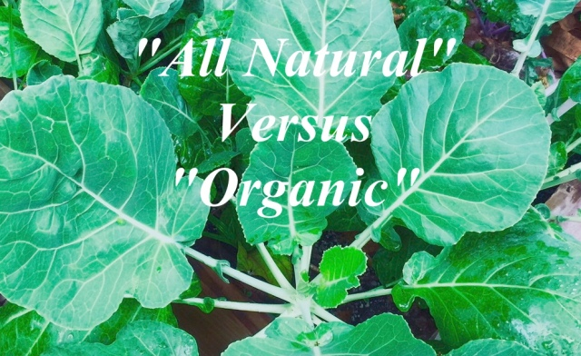 All Natural Versus Organic