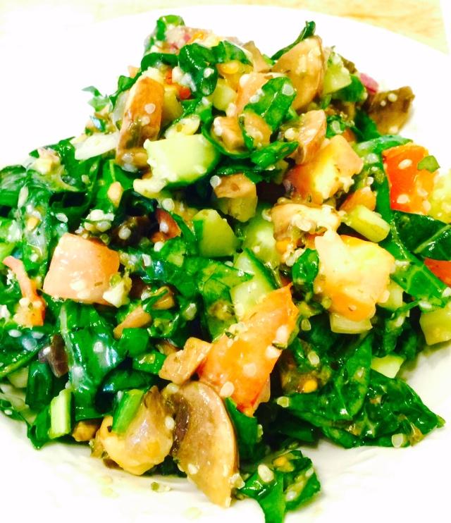 Garlic Hemp Seed Salad