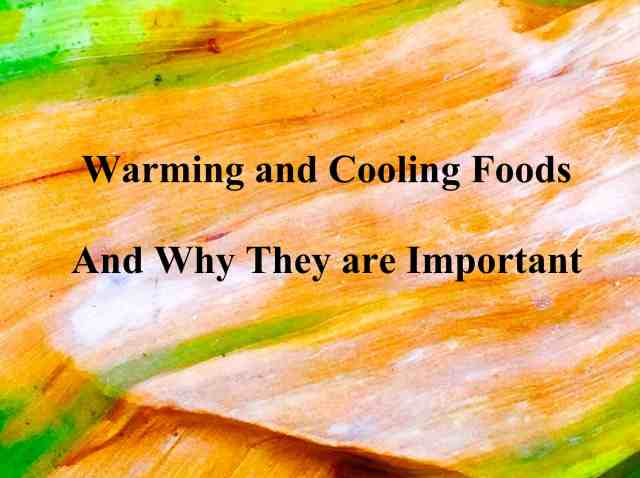 Warming and Cooling Foods