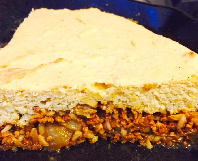Organic Cornbread Casserole with Chayote