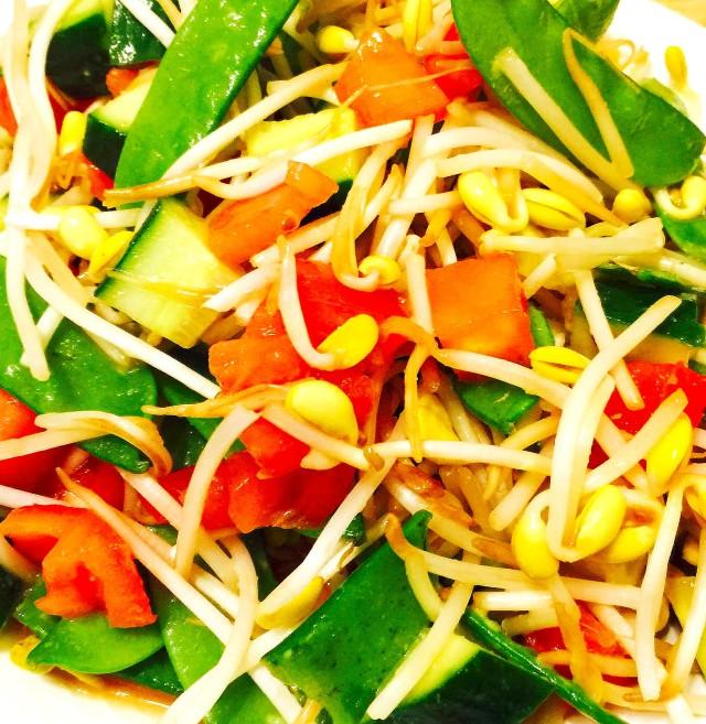 Quick Organic Asian Salad