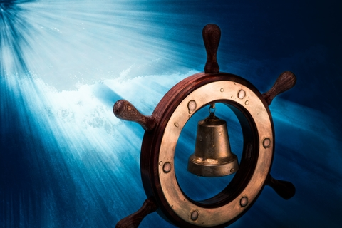 Boat Wheel and God's Light
